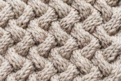 Modèle de knit d'armure de panier Photographie stock libre de droits