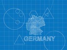 Modèle de l'Allemagne Images libres de droits