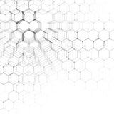Modèle de la chimie 3D, structure hexagonale de molécule sur le blanc, recherche médicale scientifique Médecine, la science et Photographie stock libre de droits