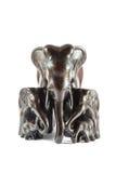 Modèle de la famille de l'éléphant thaïlandais Image stock