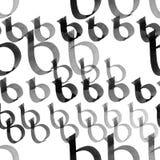 Modèle de la lettre b Photos stock