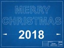 Modèle de la nouvelle année 2018 Images stock