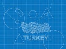 Modèle de la Turquie Photographie stock libre de droits