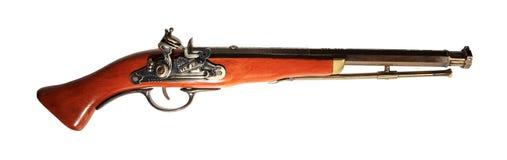Modèle de la vieille arme à feu sur le fond blanc Images libres de droits