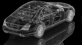 Modèle de la voiture 3D Photos libres de droits