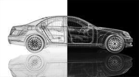 Modèle de la voiture 3D illustration de vecteur