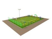 Modèle de la zone de sport 3d d'isolement sur le blanc Image libre de droits