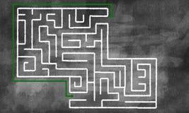 Modèle de labyrinthe Images stock