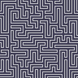 Modèle de labyrinthe de la géométrie d'abrégé sur graphique de vecteur fond géométrique sans couture pourpre de labyrinthe Photos libres de droits