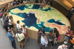 Modèle de large échelle à l'intérieur de palais de l'Italie, EXPO Milan 2015 Photos stock
