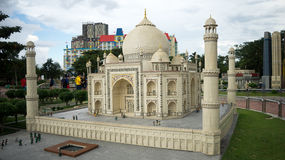 Modèle de lego de Taj Mahal Images libres de droits