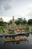 Modèle de lego de Wat Arun Photo stock