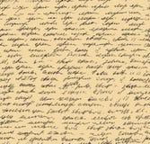 Modèle de lettre. Fond sans couture de manuscrit illustration stock