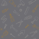 Modèle de lineart d'outils de travail Photographie stock