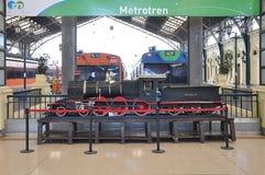 Modèle de locomotive à vapeur Image stock