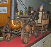 Modèle de locomotive à vapeur sur l'affichage au musée ferroviaire à Belgrade, Serbie photos stock