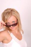 Modèle de lunettes de soleil Photos stock
