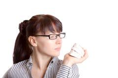 Modèle de mâchoire de femme et de plâtre photographie stock libre de droits