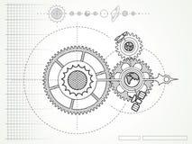 Modèle de mécanicien de l'espace illustration stock