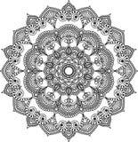 Modèle de mandala noir et blanc Photo libre de droits