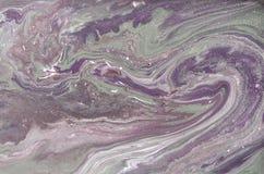 Modèle de marbrure d'or pâle Texture liquide de marbre d'or image libre de droits