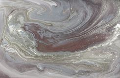 Modèle de marbrure d'or pâle Texture liquide de marbre d'or photos libres de droits