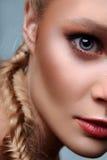 Modèle de message publicitaire de beauté de mode Photographie stock libre de droits