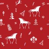 Modèle de Mezen avec le renne Photo stock
