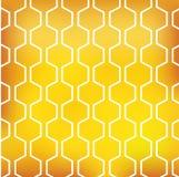 Modèle de miel sur le fond jaune Photos stock