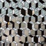 Modèle de miroir cristallisé par verre abstrait images libres de droits