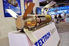 Modèle de missile sur l'affichage à Singapour Airshow Photo stock