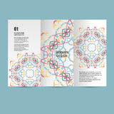 Modèle de modèle de vecteur beau sur le produit imprimé Concevez pour des livres, bannières, faire de la publicité de pages Image stock