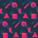 Modèle de mode avec les formes et l'image tramée roses illustration de vecteur
