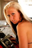 Modèle de mode blond Photos libres de droits
