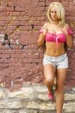 Modèle de mode blond Photographie stock libre de droits