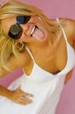 Modèle de mode blond Images stock