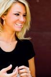 Modèle de mode blond photos stock