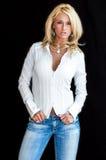 Modèle de mode blond photographie stock