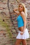 Modèle de mode blond Images libres de droits