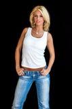 Modèle de mode blond Photo libre de droits
