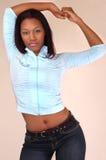 Modèle de mode d'Afro-américain Photo libre de droits