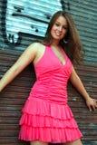 Modèle de mode dans le rose Image libre de droits