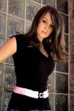 Modèle de mode de Brunette Photos stock