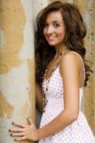 Modèle de mode de l'adolescence de brunette Image libre de droits