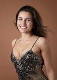 Modèle de mode de sourire sexy Photographie stock