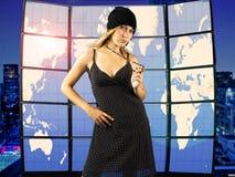 Modèle de mode femelle Photo stock