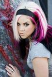 Modèle de mode gothique punk Photos libres de droits