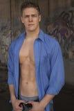 Modèle de mode mâle sexy Image stock