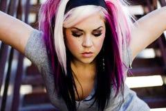 Modèle de mode punk Photo libre de droits