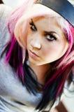 Modèle de mode punk Photographie stock